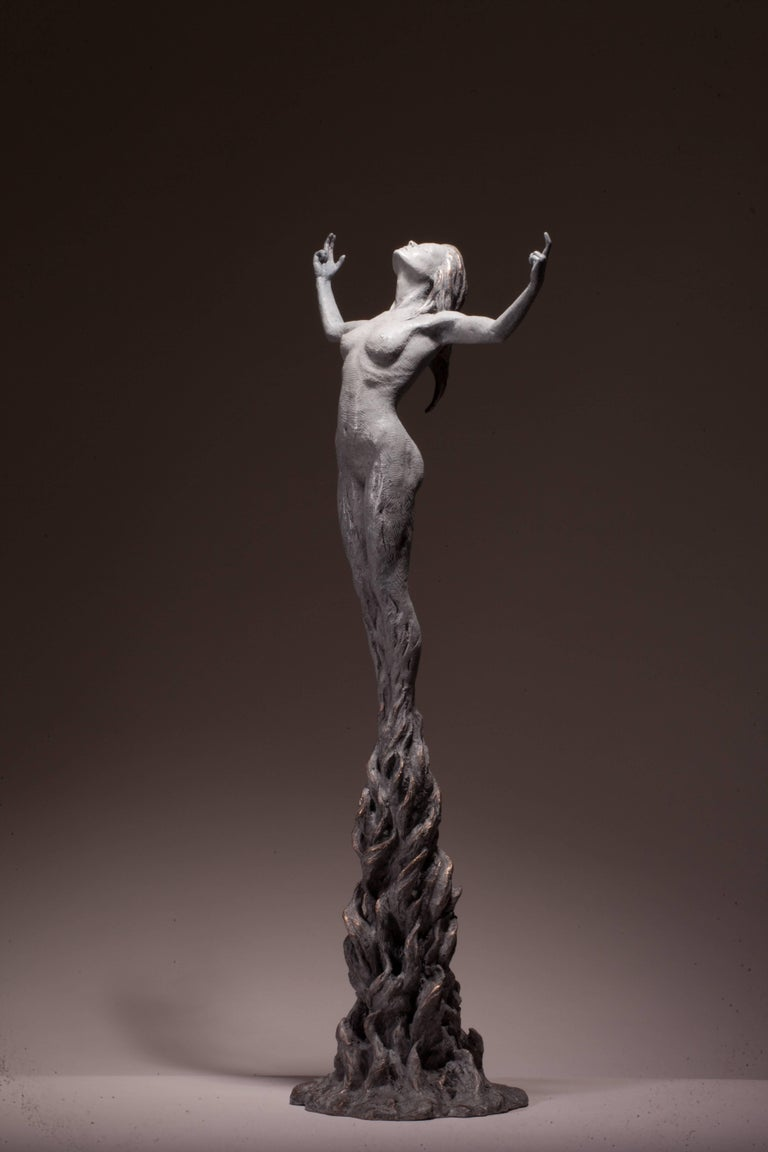 Ian Edwards - Born	within Fire - Original Signed Bronze Sculpure Dimensions: 160 x 60 x 60 cm  Edition of 12	  Edwards' practice expresses the power and determination of human endeavour. He draws inspiration from natural forces, with his powerful