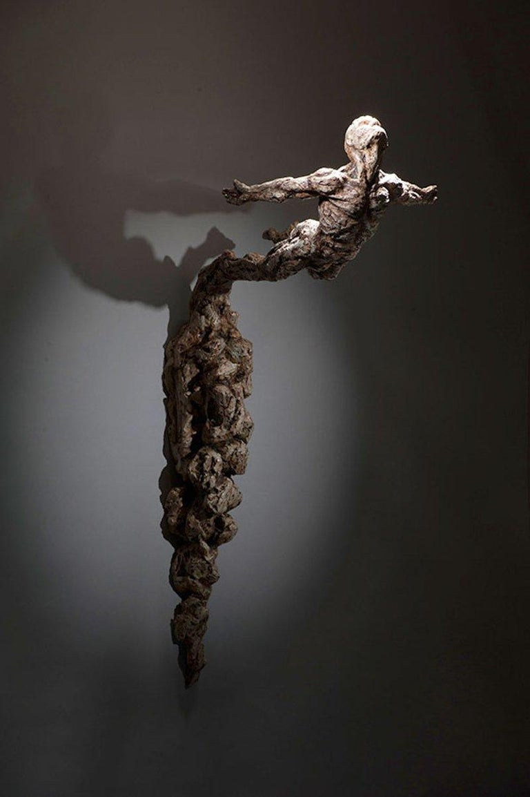 Ian Edwards - Born	within Fire - Original Signed Bronze Sculpure Dimensions: 87 x 30 x 22 cm  Edition of 12	  Edwards' practice expresses the power and determination of human endeavour. He draws inspiration from natural forces, with his powerful