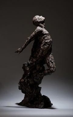 Transfiguration - Table top Figurative bronze sculpture contemporary modern