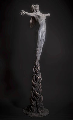 Within the Fire -  floorstanding  Figurative Nude female bronze sculpture