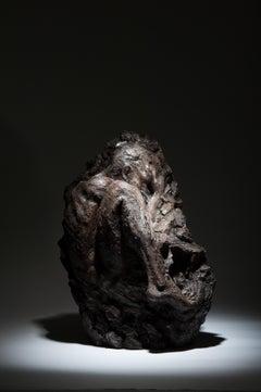 Within Unfolding - Floorstanding Figurative gothic body bronze sculpture modern