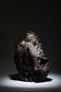 Within Unfolding - Table top Figurative bronze sculpture contemporary modern