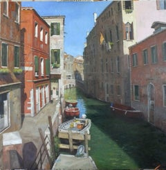 A Tourist Free Spot Venice - original figurative oil painting