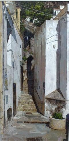 Back Street Amalfi - original landscape painting contemporary modern Art 21st C