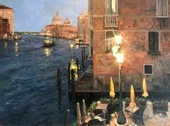 Darkness Descends over Venice original landscape painting