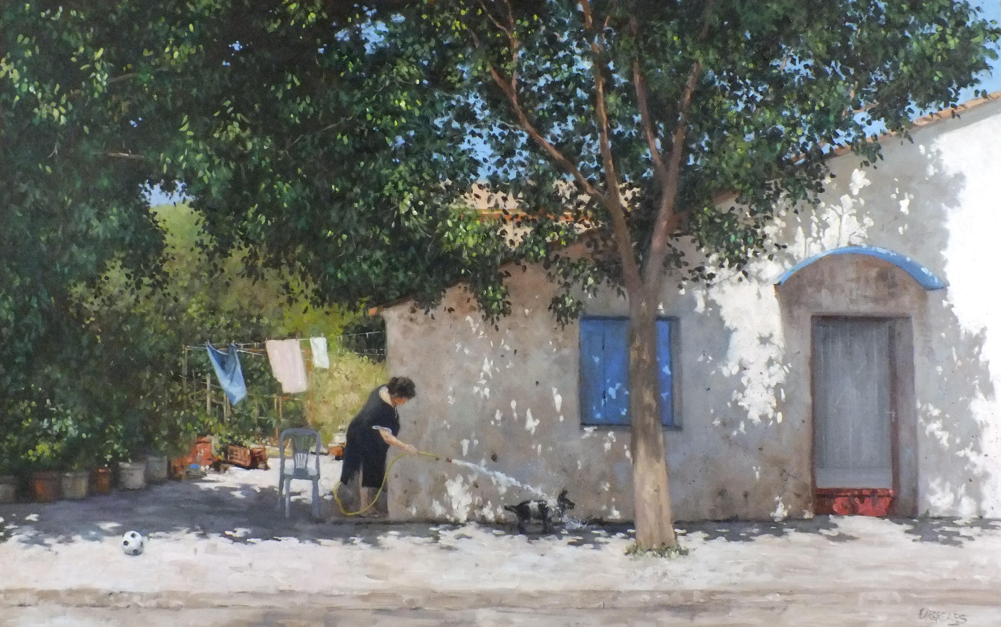 Greek Heatwave - original landscape nature painting contemporary modern 21st C