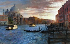 Light Fading Rapidly On The Grand Canal  Original city  landscape painting
