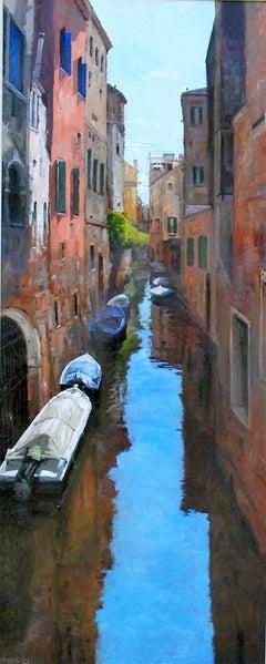 Quiet Venetian Backwater original city landscape painting