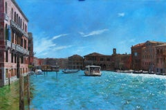 Sparkle On The Canale Grande Venice - original Italian cityscape painting