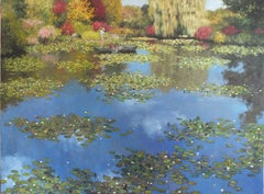 Spring in Giverney - Original floral oil painting 21st Century Contemporary Art
