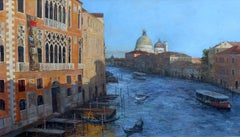 Venice, Creeping Shadows - Original landscape painting modern art 21st century