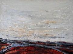 Routes Across a Landscape - British Australian 60's Expressionist oil painting