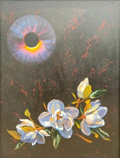 """Ancient Flowers Beneath A Black Sun,"" Photorealism, circle of Chuck Close"