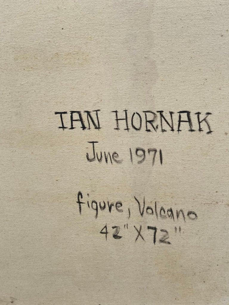 """Figure, Volcano,"" Photorealism, circle of Chuck Close, Robert Longo For Sale 6"