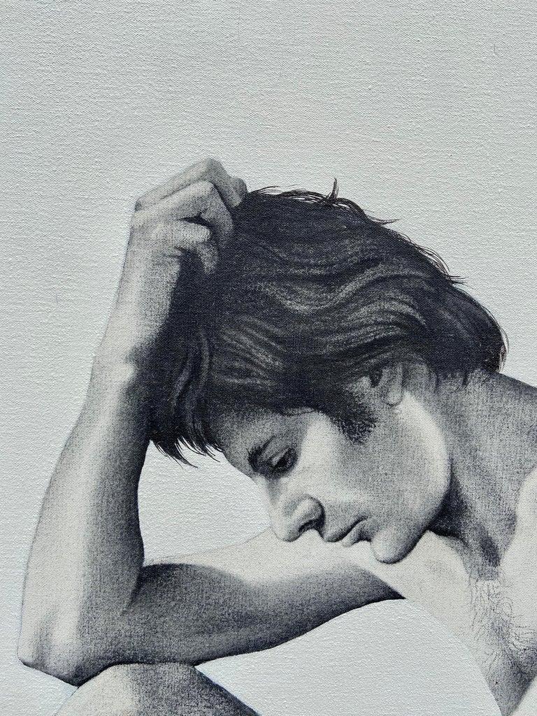"""Figure, Volcano,"" Photorealism, circle of Chuck Close, Robert Longo - Photograph by Ian Hornak"