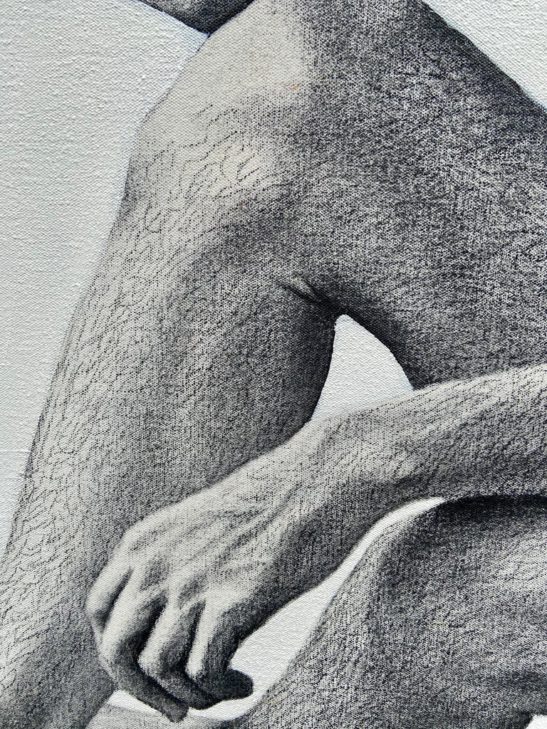 """Figure, Volcano,"" Photorealism, circle of Chuck Close, Robert Longo - Photorealist Photograph by Ian Hornak"