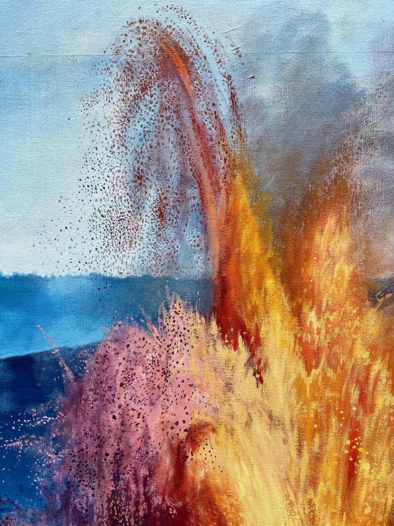 """Figure, Volcano,"" Photorealism, circle of Chuck Close, Robert Longo For Sale 1"