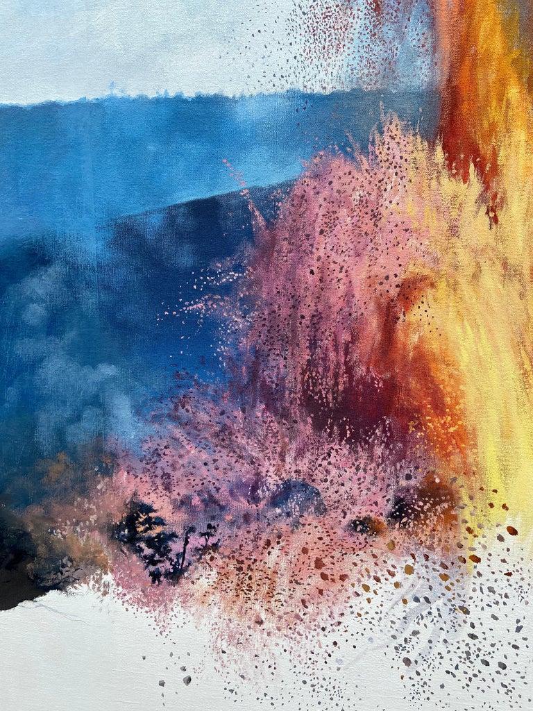 """Figure, Volcano,"" Photorealism, circle of Chuck Close, Robert Longo For Sale 2"