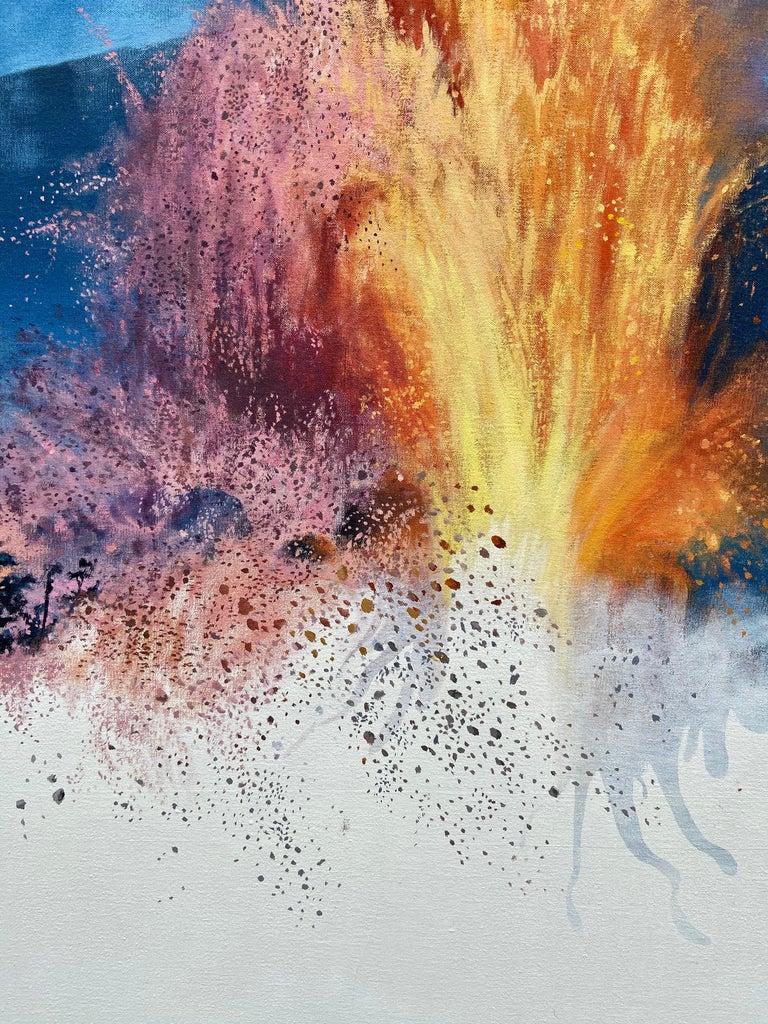 """Figure, Volcano,"" Photorealism, circle of Chuck Close, Robert Longo For Sale 3"