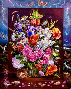 """""""Flower Piece with Storm,"""" Photorealism & Hyperrealism"""