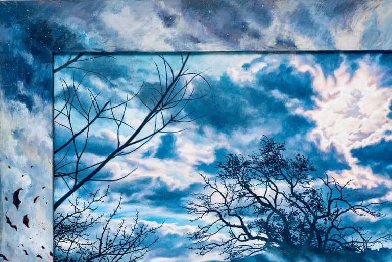 Last Song: Beim Schlafengehen (Going to Sleep), Photorealism & Hyperrealism - Blue Abstract Painting by Ian Hornak