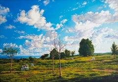 """Looking Toward Oyster Pond, Montauk,"" Photorealism"