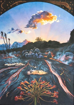 Primeval Landscape, Photorealism, circle of Malcolm Morley, Chuck Close