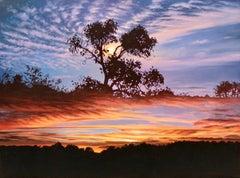 """Transparent Barricades: Sunset and Moonrise,"" Photorealism"
