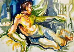 Untitled (Abstract Male Reclining Nude)