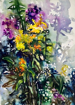 Untitled (Abstract Still Life with Cascading Flowers)
