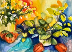 Untitled (Abstract Still Life with Flowers, Plants and Peppers)
