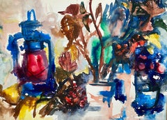 Untitled (Abstract Still Life with Lantern, Flowers and Fruit)