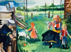 Untitled (Neo-Impressionist Figures in Landscape)