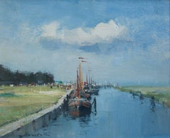 Ian Houston, Impressionist view of Edam harbour, Netherlands
