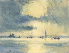'Sunlight After Rain, Venice' oil painting by Bristish artist Ian Houston