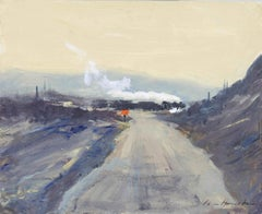 'The Coal Train – Uphill Work' original oil painting by Ian Houston