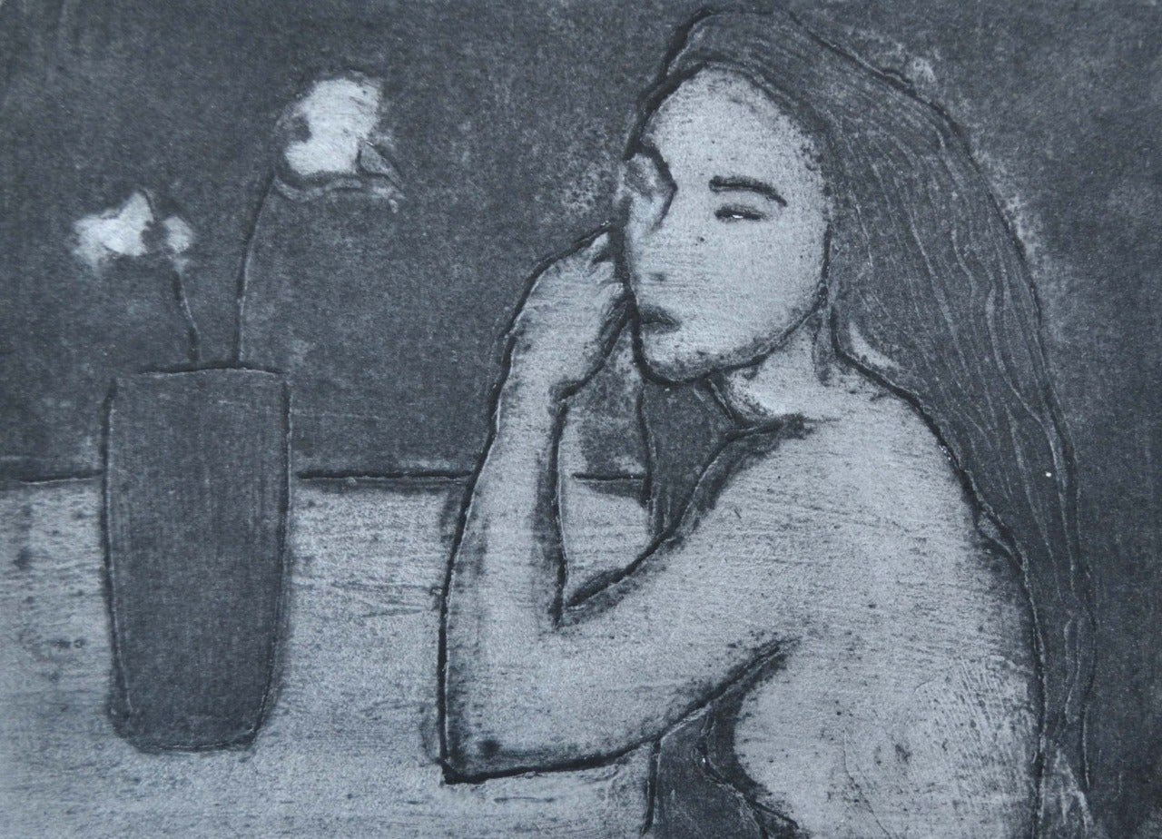Flowers, Contemporary Limited Edition Figurative Etching