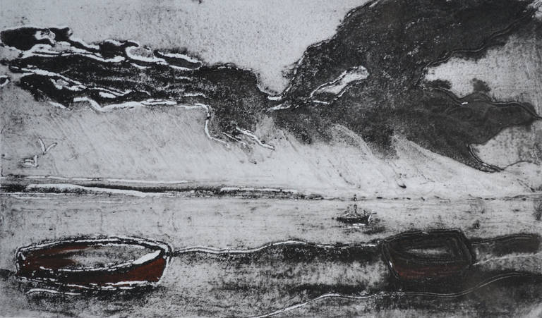 Mounts Bay, Monochrome: Contemporary Limited Edition Etching