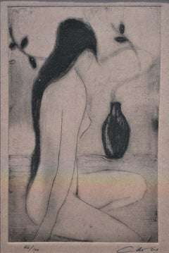 Oriental Girl, Contemporary Limited Edition Etching