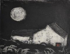 Red Door Cottage            Contemporary limited edition etching
