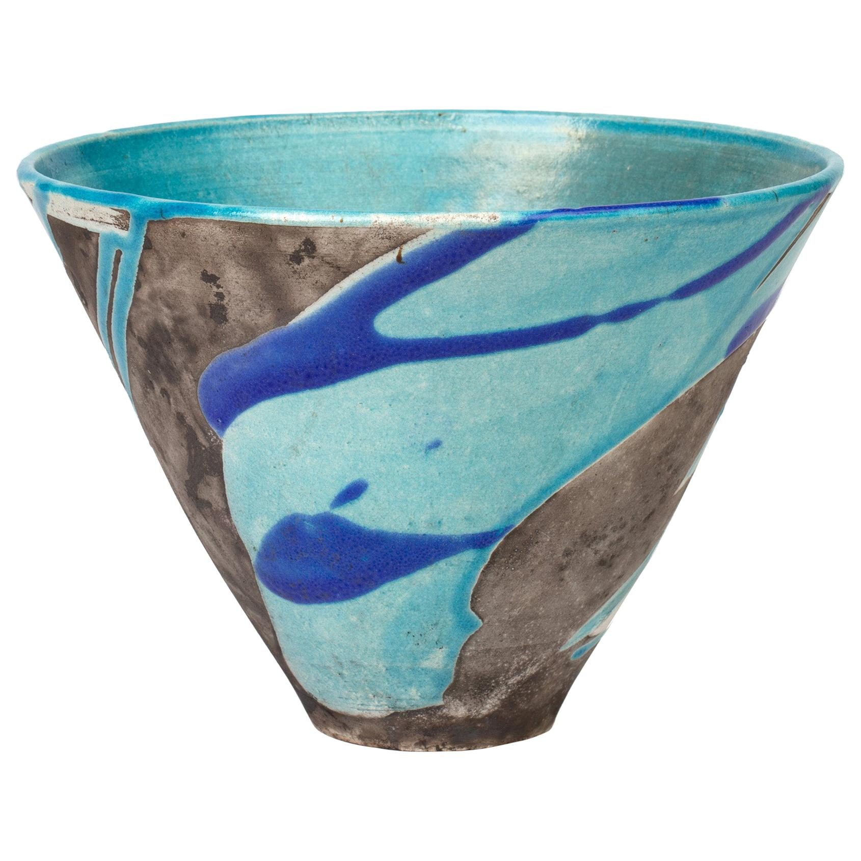 Ian & Maggie Kinnear Oathlaw Pottery Scottish Studio Pottery Glazed Raku Bowl