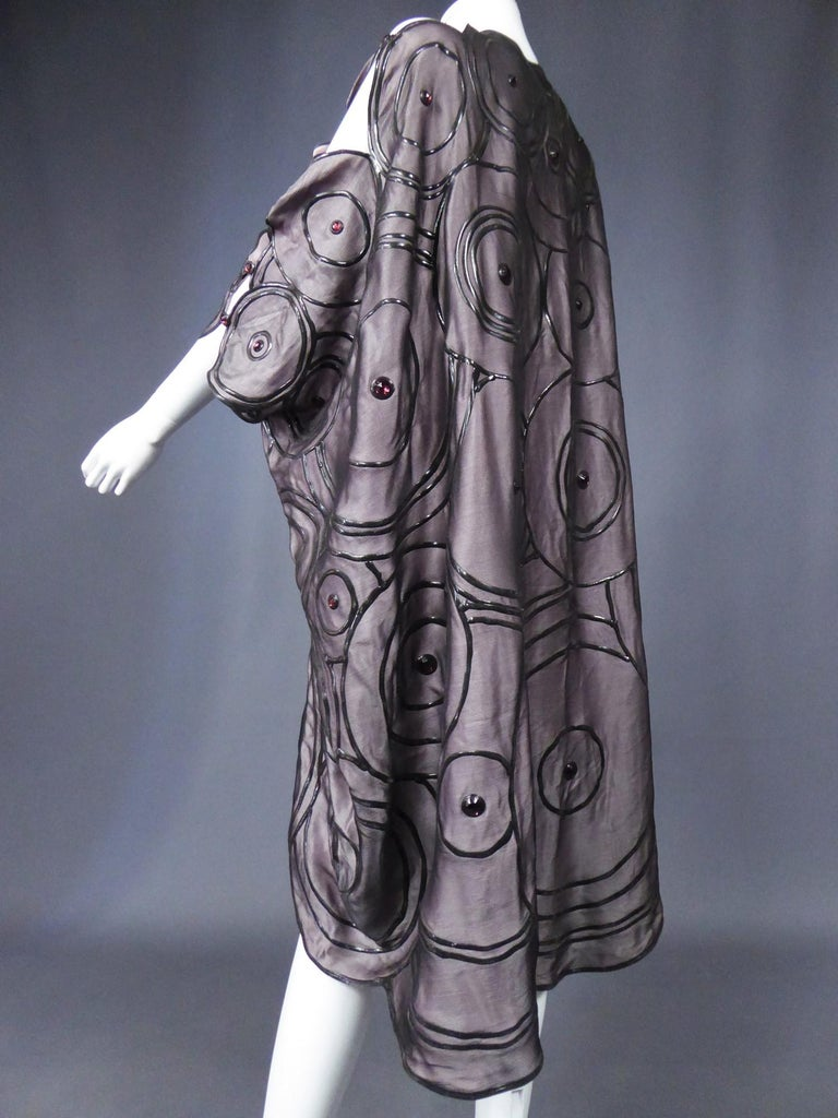 Ian & Marcel Evening Kimono in Silk and Rubber London Circa 1985/1990 For Sale 5