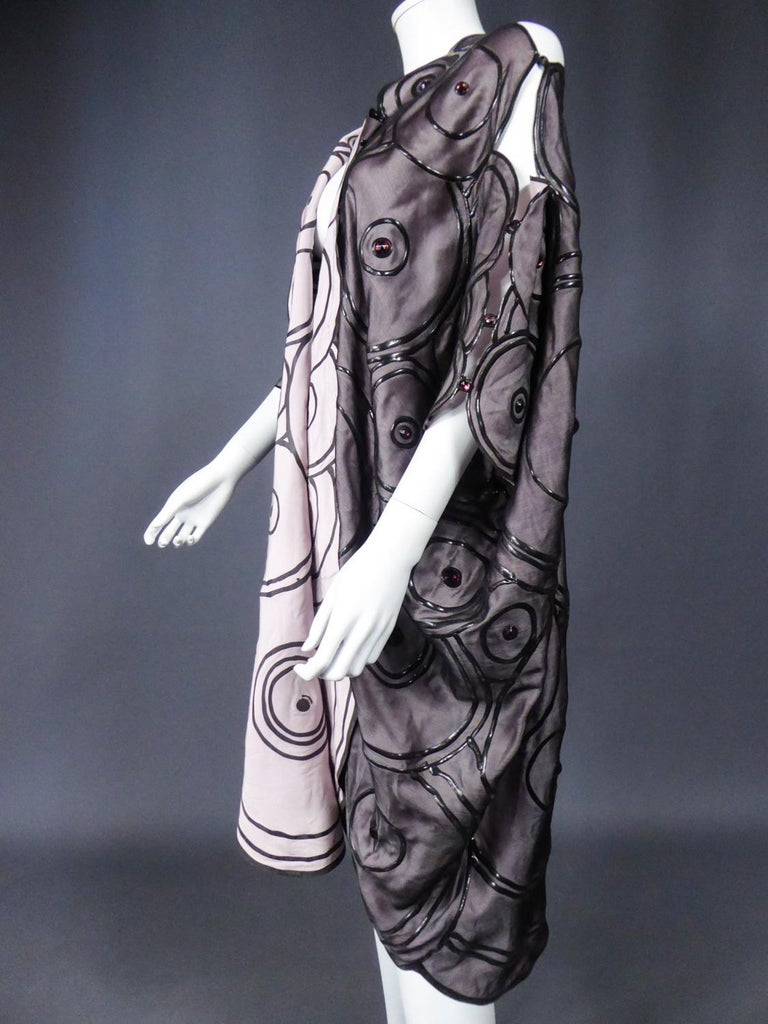 Ian & Marcel Evening Kimono in Silk and Rubber London Circa 1985/1990 For Sale 6