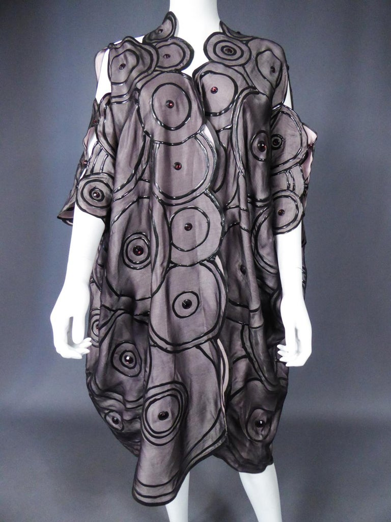 Ian & Marcel Evening Kimono in Silk and Rubber London Circa 1985/1990 For Sale 10