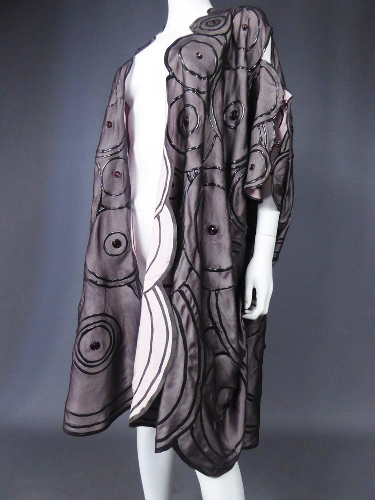 Ian & Marcel Evening Kimono in Silk and Rubber London Circa 1985/1990 For Sale 13