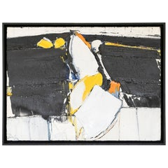 """Ian Meyer """"Untitled"""" Abstract Oil on Wood, 1974"""