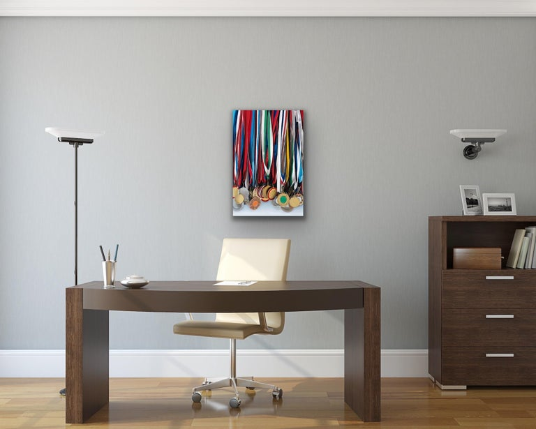 Medley: Photorealistic Painting of Medals by Ian Robinson For Sale 6