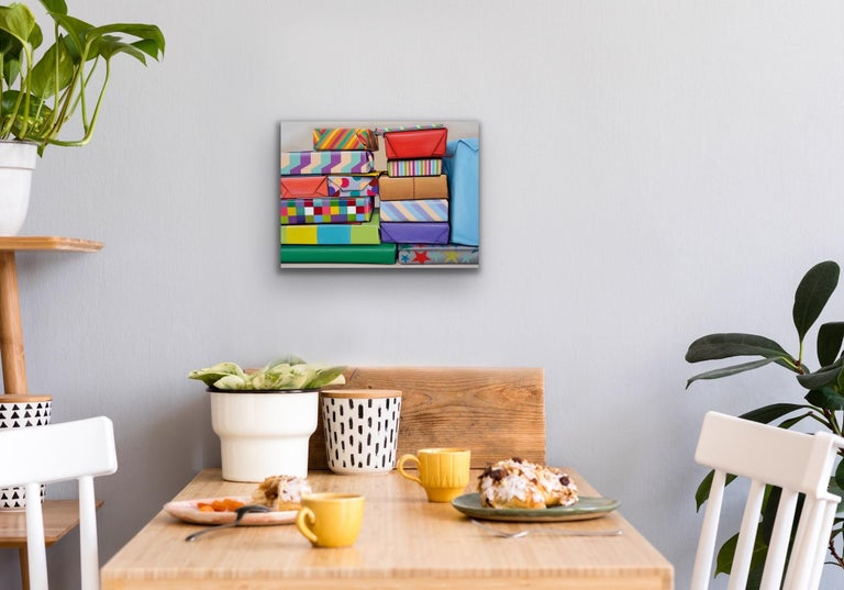 Presents Stack: Photorealistic Painting by Ian Robinson For Sale 5