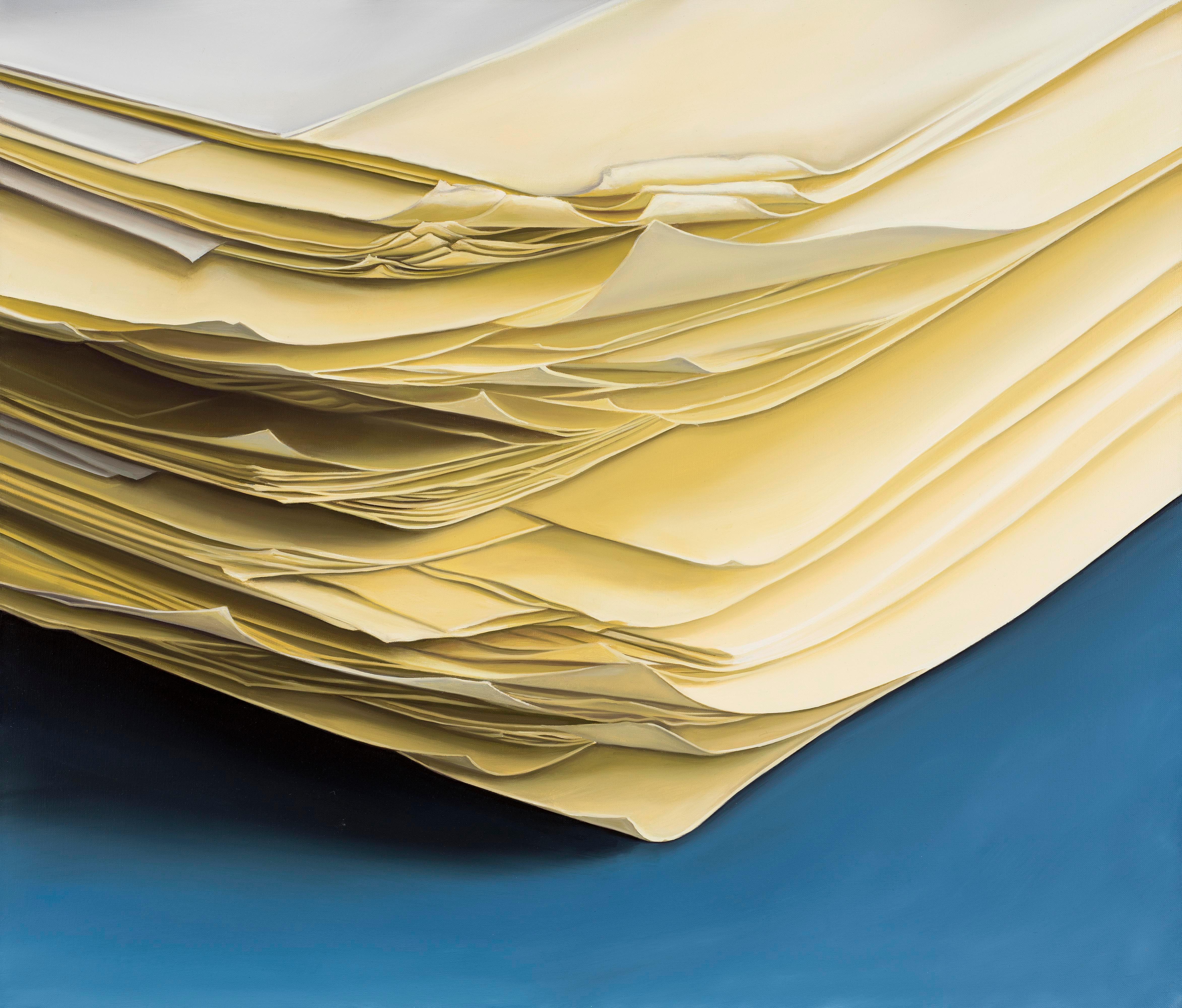 Roald Dahl's Manuscripts: Photorealistic Book Painting by Ian Robinson