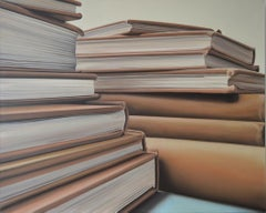 Schwitters in Exile: Photorealistic Painting of Books by Ian Robinson